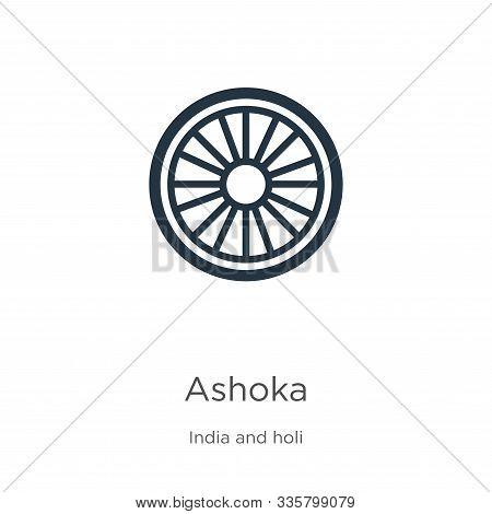 Ashoka Icon Vector. Trendy Flat Ashoka Icon From India Collection Isolated On White Background. Vect