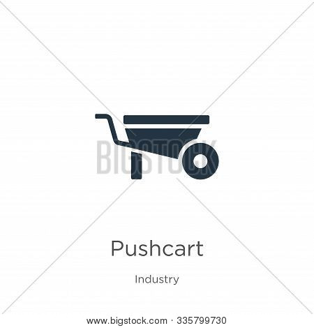 Pushcart Icon Vector. Trendy Flat Pushcart Icon From Industry Collection Isolated On White Backgroun