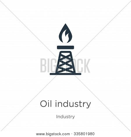 Oil Industry Icon Vector. Trendy Flat Oil Industry Icon From Industry Collection Isolated On White B