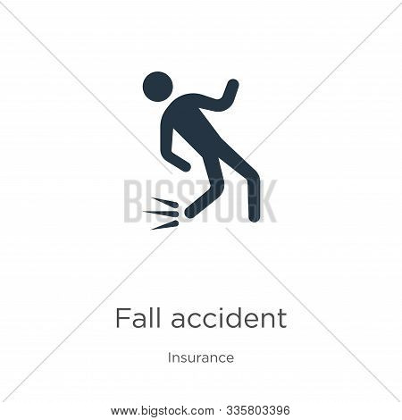 Fall Accident Icon Vector. Trendy Flat Fall Accident Icon From Insurance Collection Isolated On Whit