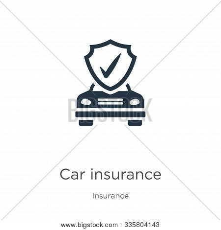 Car Insurance Icon Vector. Trendy Flat Car Insurance Icon From Insurance Collection Isolated On Whit