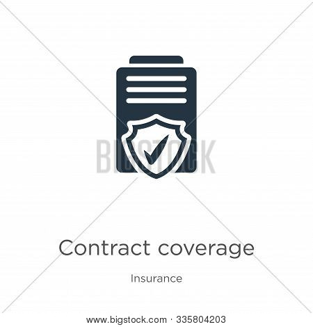 Contract Coverage Icon Vector. Trendy Flat Contract Coverage Icon From Insurance Collection Isolated