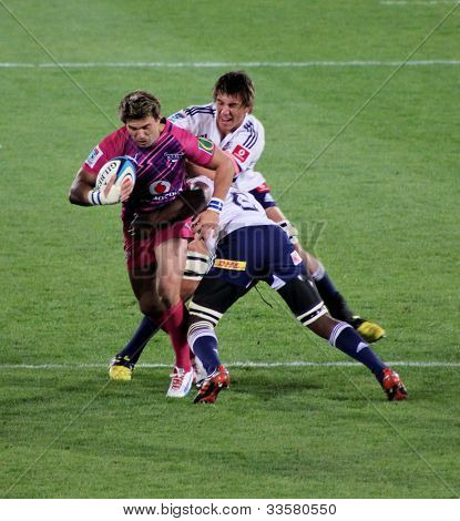 Rugby Wynand Olivier Bulls Tackled South Africa 2012
