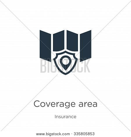 Coverage Area Icon Vector. Trendy Flat Coverage Area Icon From Insurance Collection Isolated On Whit