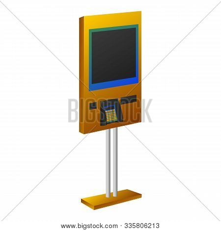 Payment Kiosk Icon. Cartoon Of Payment Kiosk Vector Icon For Web Design Isolated On White Background