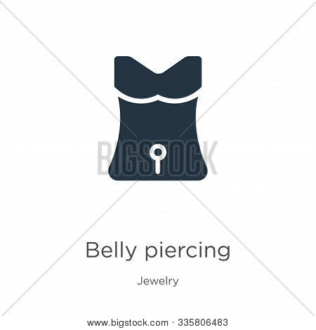 Belly Piercing Icon Vector. Trendy Flat Belly Piercing Icon From Jewelry Collection Isolated On Whit