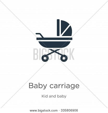 Baby Carriage Icon Vector. Trendy Flat Baby Carriage Icon From Kid And Baby Collection Isolated On W