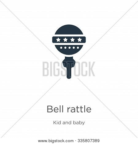 Bell Rattle Icon Vector. Trendy Flat Bell Rattle Icon From Kid And Baby Collection Isolated On White