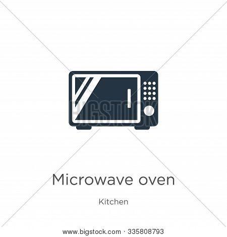 Microwave Oven Icon Vector. Trendy Flat Microwave Oven Icon From Kitchen Collection Isolated On Whit