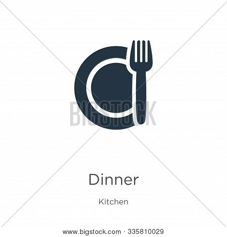 Dinner Icon Vector. Trendy Flat Dinner Icon From Kitchen Collection Isolated On White Background. Ve
