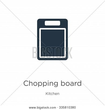 Chopping Board Icon Vector. Trendy Flat Chopping Board Icon From Kitchen Collection Isolated On Whit
