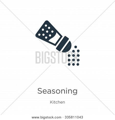 Seasoning Icon Vector. Trendy Flat Seasoning Icon From Kitchen Collection Isolated On White Backgrou