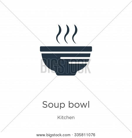 Soup Bowl Icon Vector. Trendy Flat Soup Bowl Icon From Kitchen Collection Isolated On White Backgrou