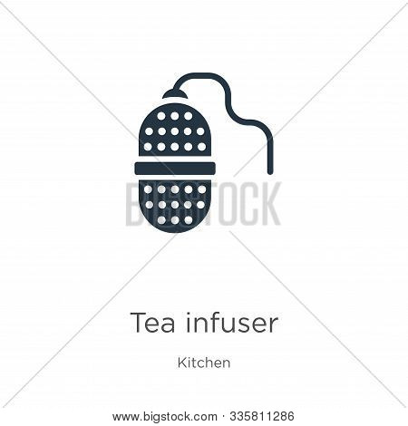 Tea Infuser Icon Vector. Trendy Flat Tea Infuser Icon From Kitchen Collection Isolated On White Back