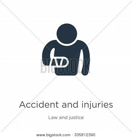 Accident And Injuries Icon Vector. Trendy Flat Accident And Injuries Icon From Law And Justice Colle