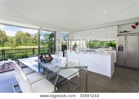 Modern Kithchen And Dining Room