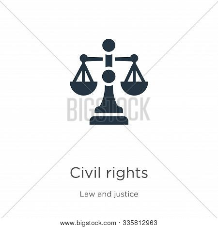 Civil Rights Icon Vector. Trendy Flat Civil Rights Icon From Law And Justice Collection Isolated On