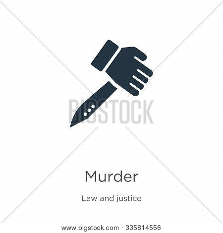 Murder Icon Vector. Trendy Flat Murder Icon From Law And Justice Collection Isolated On White Backgr