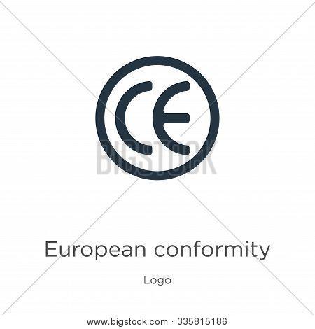 European Conformity Icon Vector. Trendy Flat European Conformity Icon From Logo Collection Isolated