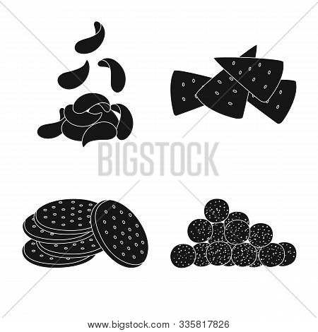 Vector Illustration Of Party And Cooking Sign. Collection Of Party And Crunchy Vector Icon For Stock