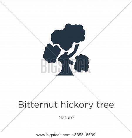 Bitternut Hickory Tree Icon Vector. Trendy Flat Bitternut Hickory Tree Icon From Nature Collection I