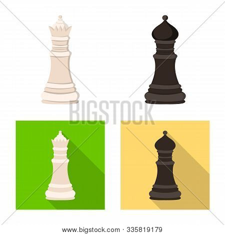Vector Design Of Checkmate And Thin Symbol. Set Of Checkmate And Target Stock Vector Illustration.