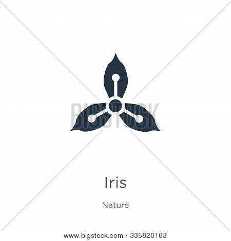 Iris Icon Vector. Trendy Flat Iris Icon From Nature Collection Isolated On White Background. Vector