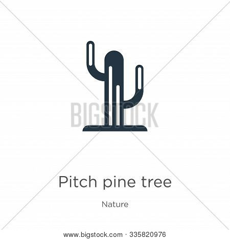 Pitch Pine Tree Icon Vector. Trendy Flat Pitch Pine Tree Icon From Nature Collection Isolated On Whi