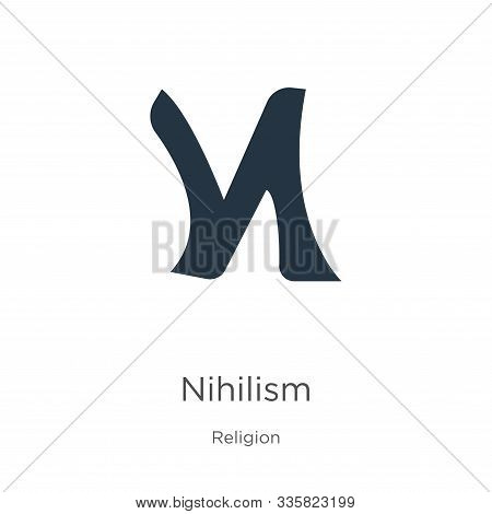 Nihilism Icon Vector. Trendy Flat Nihilism Icon From Religion Collection Isolated On White Backgroun