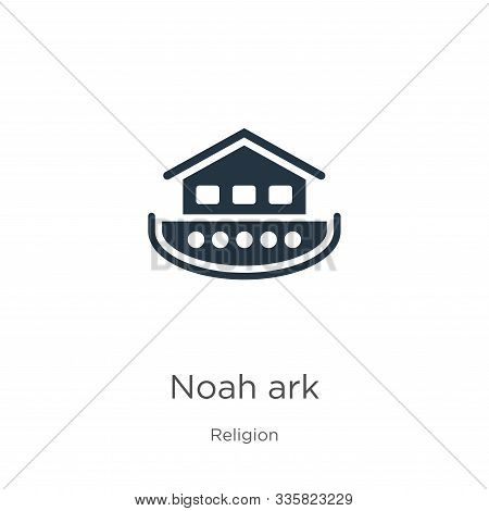 Noah Ark Icon Vector. Trendy Flat Noah Ark Icon From Religion Collection Isolated On White Backgroun