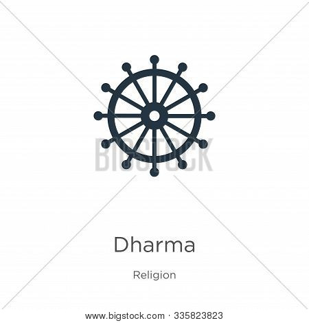 Dharma Icon Vector. Trendy Flat Dharma Icon From Religion Collection Isolated On White Background. V