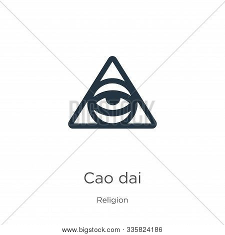 Cao Dai Icon Vector. Trendy Flat Cao Dai Icon From Religion Collection Isolated On White Background.