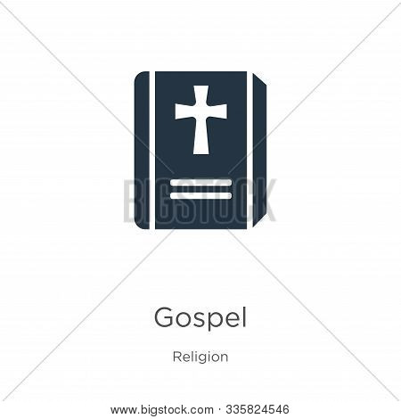 Gospel Icon Vector. Trendy Flat Gospel Icon From Religion Collection Isolated On White Background. V