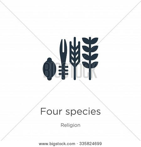 Four Species Icon Vector. Trendy Flat Four Species Icon From Religion Collection Isolated On White B