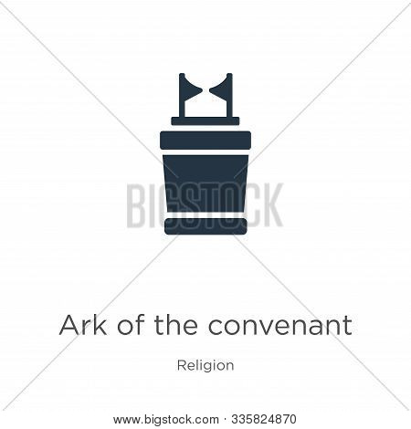 Ark Of The Convenant Icon Vector. Trendy Flat Ark Of The Convenant Icon From Religion Collection Iso