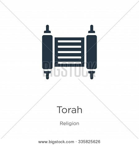 Torah Icon Vector. Trendy Flat Torah Icon From Religion Collection Isolated On White Background. Vec