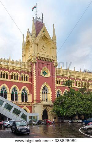 Kolkata,india - October 25,2019 - View At The High Court Buiding In Kolkata.koklata Is The Capital O