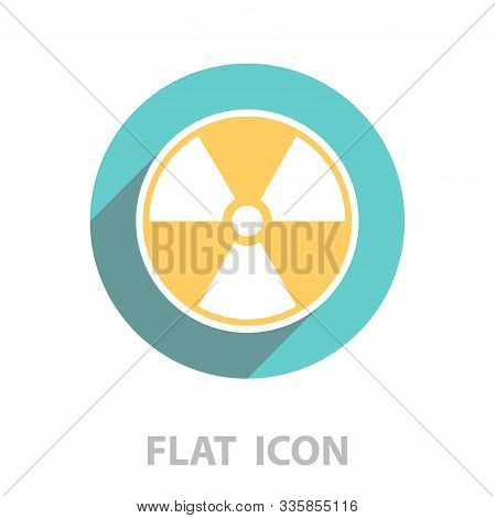 Flat Radiation Icon. Vector Illustration In A Flat Style