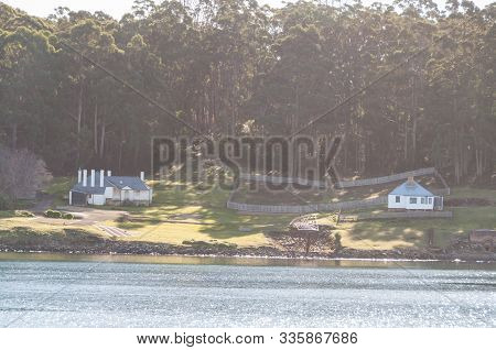 Port Arthur, Australia - July 19, 2014: View On Historic Conviction Place At Port Arthur On Tasmania