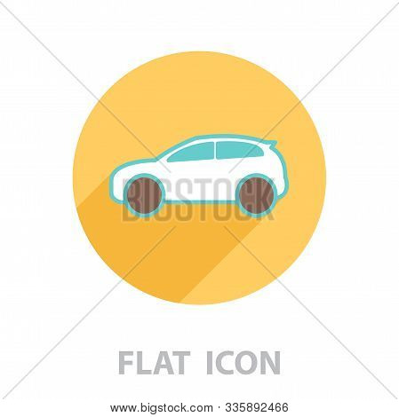 Pictograph Of Car. Vector Illustration In A Flat Style