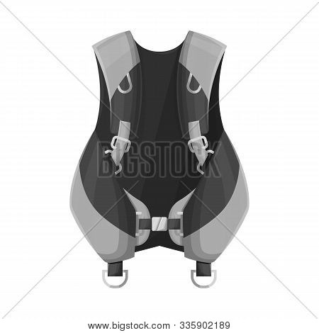 Vector Illustration Of Compensator And Dive Sign. Graphic Of Compensator And Diver Vector Icon For S