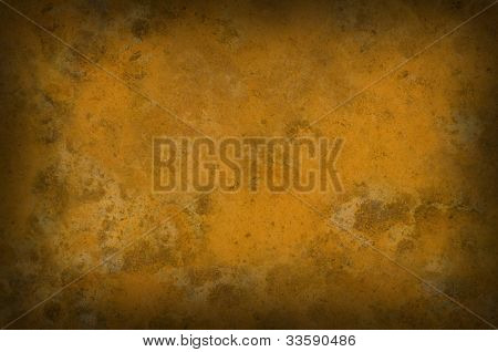 Rusty Grungy Background Vignetted