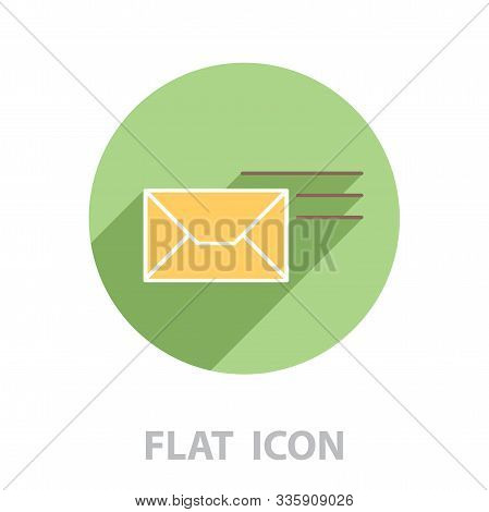 Pictograph Of Mail. Vector Illustration In A Flat Style