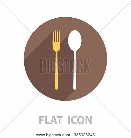 Dishware Vector Icon. Vector Illustration In A Flat Style