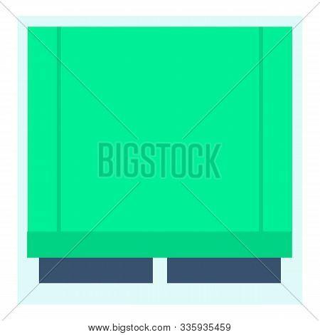 Window Jalousie Icon. Flat Illustration Of Window Jalousie Vector Icon For Web Design