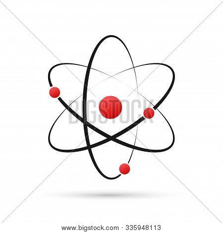 Atom Icon Vector, Atom Symbols On White Background.
