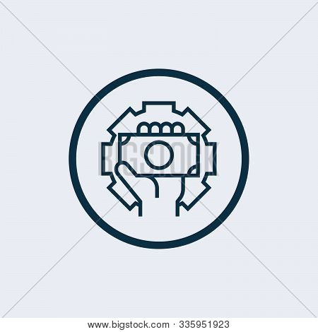 Settings Icon. Settings Icon Vector Flat Illustration For Graphic And Web Design Isolated On Black B