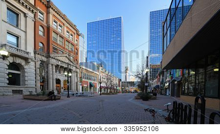 Regina, Saskatchewan/canada- September 26, 2019: A Scene Of Regina, Canada Downtown, [september 26,