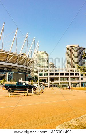 June 19 2018, Vancouver Canada: Editorial Photo Of Bc Place Which Is Where The Vancouver Whitecaps P