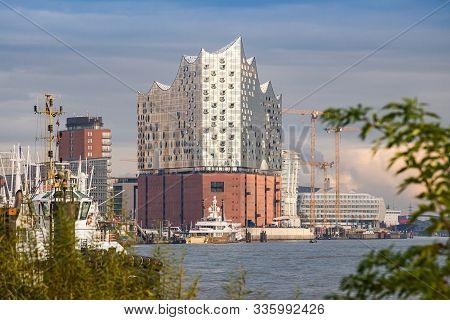 Hamburg, Germany - November 09, 2019. Building Of Elbe Philharmonic Hall